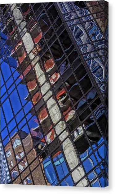 Architectur Canvas Print - Reflective Glass Architecture by Robert Ullmann