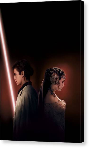 Yoda Canvas Print - Star Wars Episode II - Attack Of The Clones 2002 by Geek N Rock