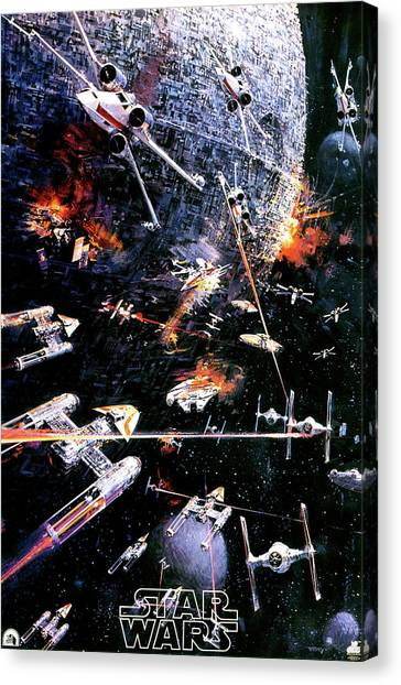 Chewbacca Canvas Print - Star Wars Episode Iv - A New Hope 1977 by Fine Artist