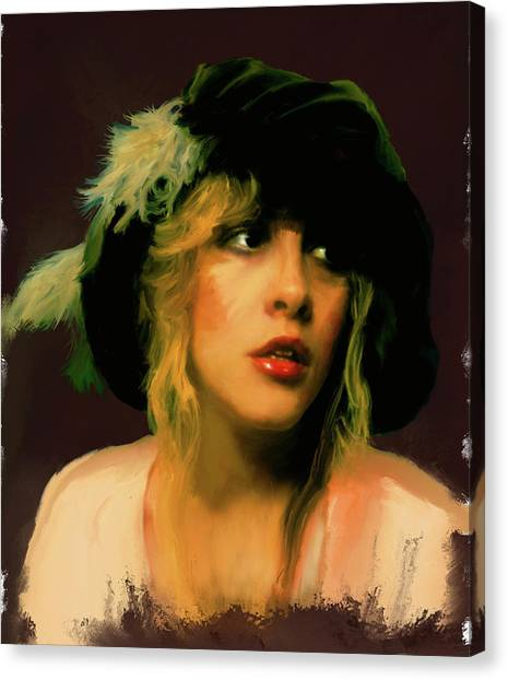 Stevie Nicks Canvas Print - Stevie Nicks by Brian Tones