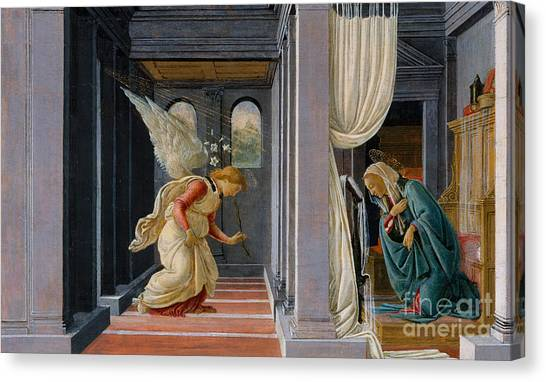 Botticelli Canvas Print - The Annunciation by Sandro Botticelli