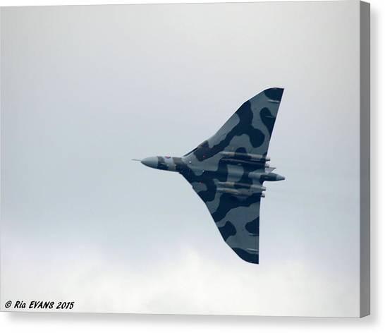 Vulcans Canvas Print - Vulcan Bomber In Flight by Ria Evans