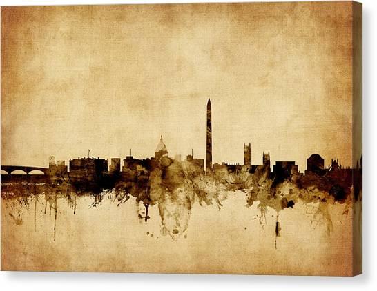 Washington Dc Canvas Print - Washington Dc Skyline by Michael Tompsett