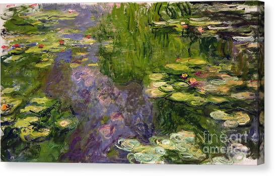 Lilies Canvas Print - Waterlilies by Claude Monet