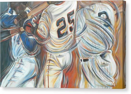 Barry Bonds Canvas Print - 700 Homerun Club by Redlime Art