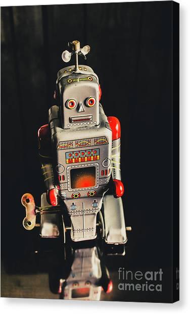 Machinery Canvas Print - 70s Mechanical Android Bot  by Jorgo Photography - Wall Art Gallery