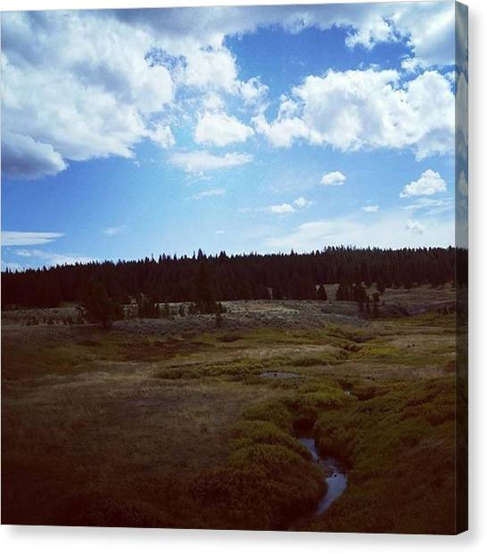 Yellowstone National Park Canvas Print - Sky Touching Earth by Jonathan Stoops