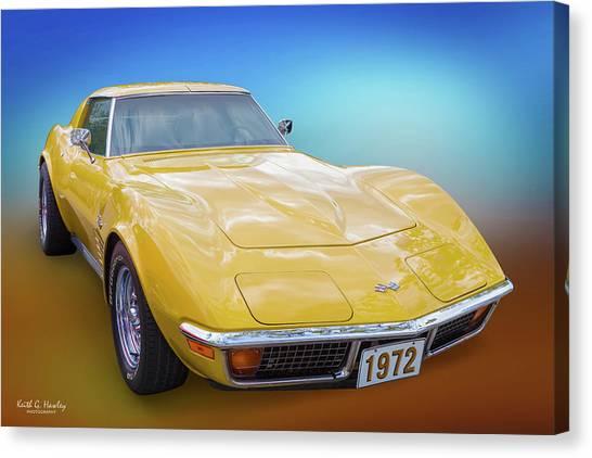72 Corvette Canvas Print
