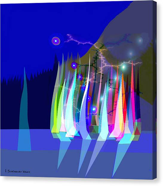 720 - Sailing A Canvas Print
