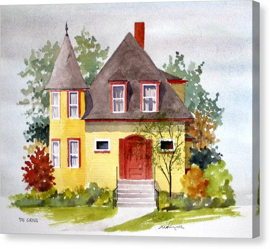 721 Grove Ave Canvas Print by William Renzulli
