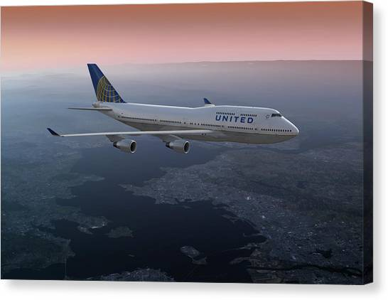 747twilight Canvas Print