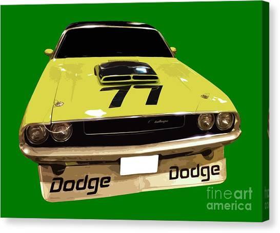 77 Yellow Dodge Canvas Print
