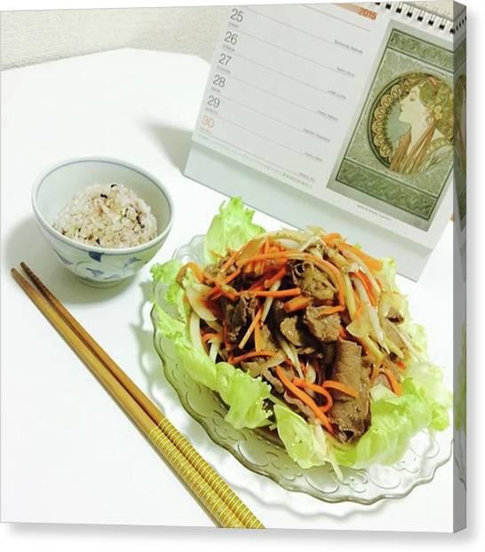Lettuce Canvas Print - Instagram Photo by Terumi Saeki