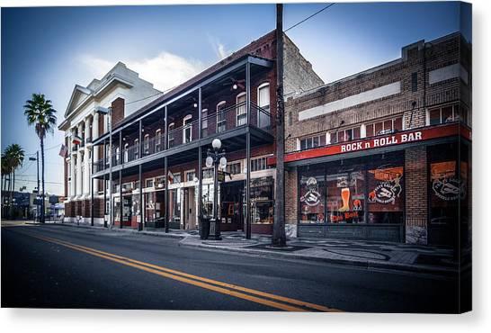 7th Ave Rock N Roll Bar Canvas Print by Ybor Photography