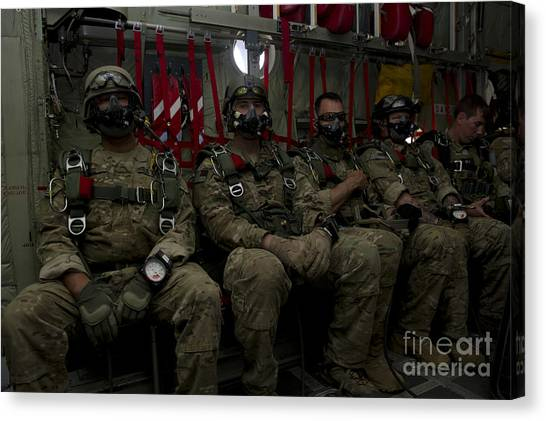 Green Berets Canvas Print - 7th Special Forces Group Green Berets by Stocktrek Images