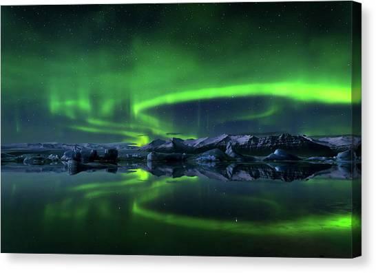 Aurora Borealis Canvas Print - Aurora Borealis by Super Lovely