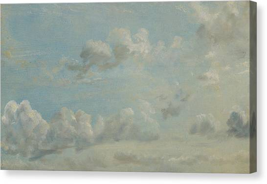 Clouds Canvas Print - British Title Cloud Study by John Constable
