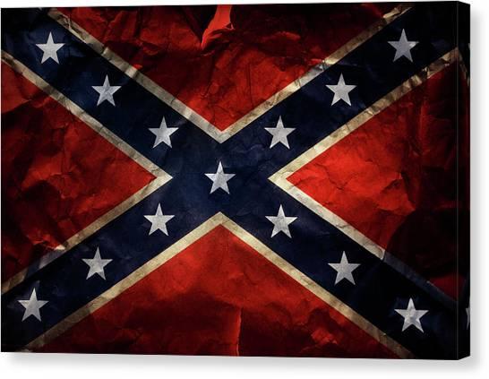 Confederate Flag 9 Canvas Print