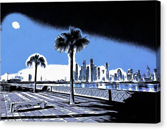 City of dubai canvas print dubai by vadim pavlov