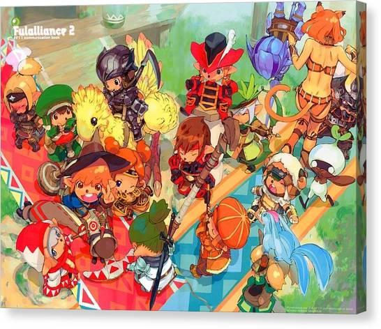 Final Fantasy Canvas Print - Final Fantasy Xi by Mery Moon