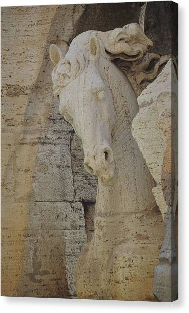 Horse In The Fountain  Canvas Print by JAMART Photography