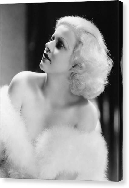 Beauty Mark Canvas Print - Jean Harlow (1911-1937) by Granger