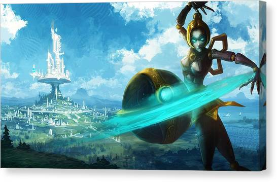 Tropical Fish Canvas Print - League Of Legends by Maye Loeser