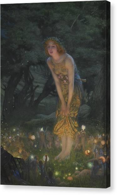 Sprite Canvas Print - Midsummer Eve by Edward Robert Hughes