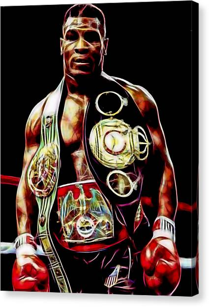Mike Tyson Canvas Print - Mike Tyson Collection by Marvin Blaine