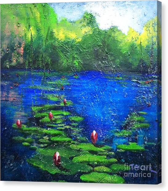 8 Mile Creek Lagoon - Bajool - Original Sold Canvas Print