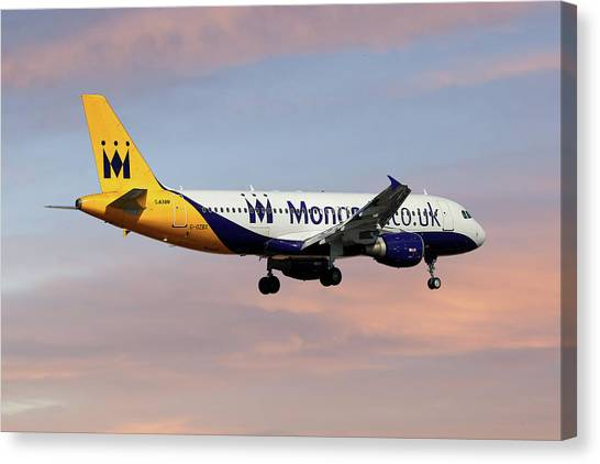 Monarch Canvas Print - Monarch Airlines Airbus A320-214 by Smart Aviation