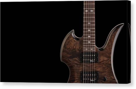 Bass Guitars Canvas Print - Music by Super Lovely