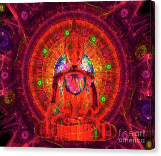 Monster Ufo Canvas Print - Mysteries Of The Universe By Raphael Terra by Raphael Terra