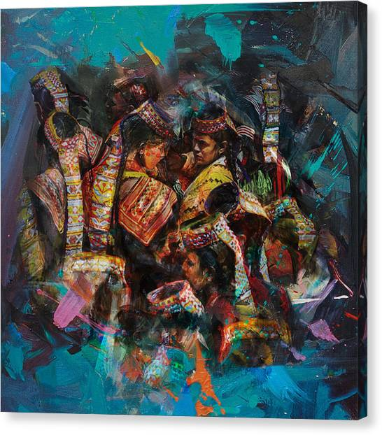 Submission Canvas Print - 8 Pakistan Folk Chitraal by Maryam Mughal