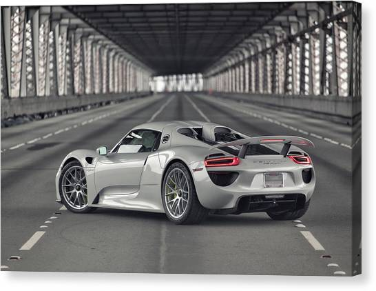 Canvas Print featuring the photograph Porsche 918 Spyder  by ItzKirb Photography