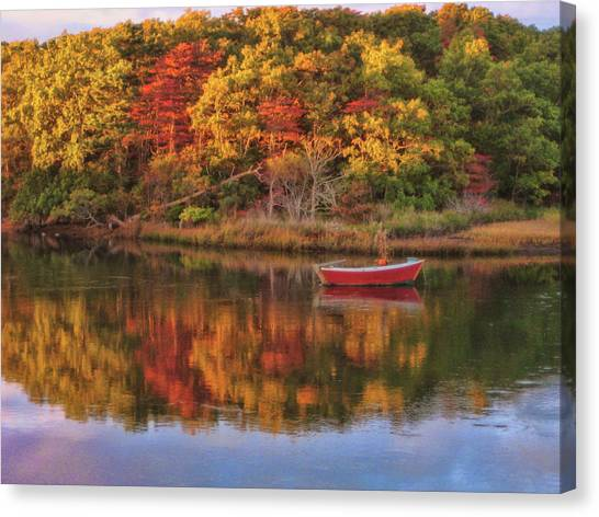 Autumn Reflection  Canvas Print by JAMART Photography