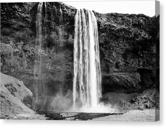 Seljalandsfoss Canvas Print - Seljalandsfoss Waterfall Iceland by Joe Fox