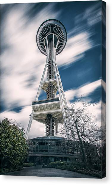Space Needle Canvas Print - Space Needle by Robert Fawcett