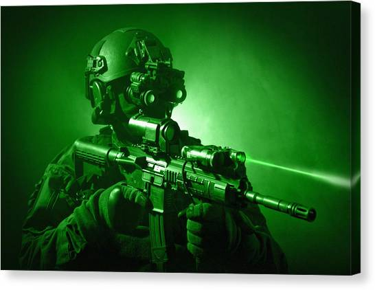 Special Forces Canvas Print - Special Operations Forces Soldier by Tom Weber