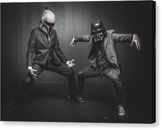 War Canvas Print - Star Wars Dressman by Marino Flovent