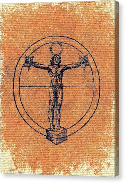 Gnosis Canvas Print - Symbols Of The Occult  by Pierre Blanchard