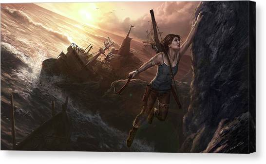 Spider Web Canvas Print - Tomb Raider by Maye Loeser