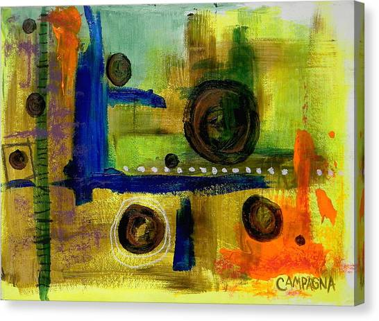 Canvas Print featuring the mixed media Untitled by Teddy Campagna