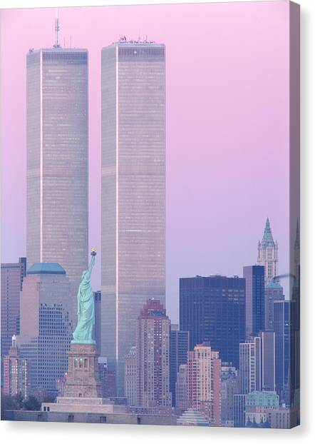 World Heritage Site Canvas Print - Usa, New York, Statue Of Liberty by Panoramic Images