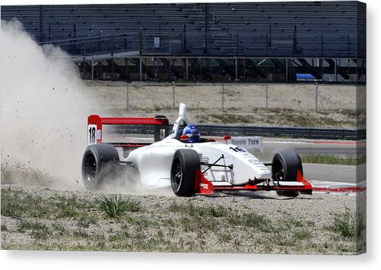 Utah Grand Prix Canvas Print by Dennis Hammer