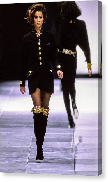 Versace Fall 1991 Rtw Show Canvas Print by Guy Marineau