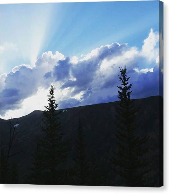 Rocky Mountains Canvas Print - Sunset Over The Rockies by Jonathan Stoops