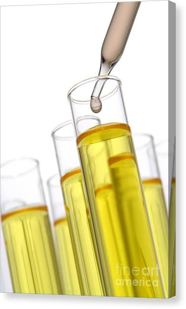 Chemicals Canvas Print - Test Tubes In Science Research Lab by Olivier Le Queinec