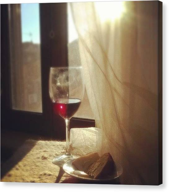 Red Wine Canvas Print - Glass Of Wine by Dellabru