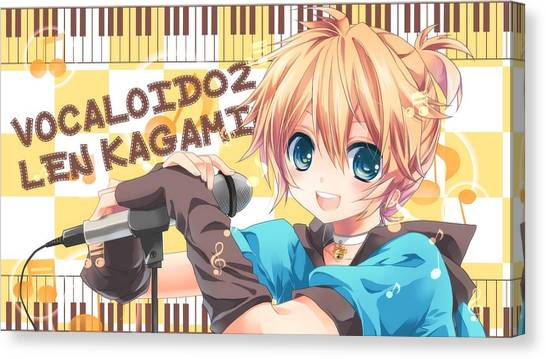 Drawing Canvas Print - Vocaloid by Tatiania Laning
